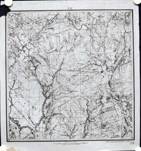 Ohkola ja Numminen (Topografinen kartta 1:21.000 nro X/31)