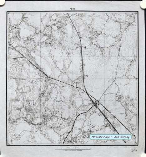 Hyvinkää (Topografinen kartta 1:21.000 nro XI/29)