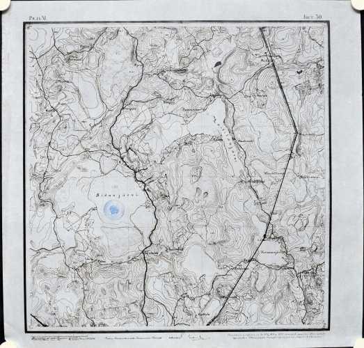 Ridasjärvi (Topografinen kartta 1:21.000 nro XI/30)