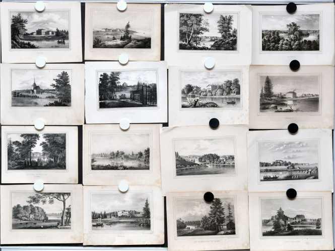 Kokoelma (62 kuvaa) Suomi-grafiikkaa 1800-luvulta