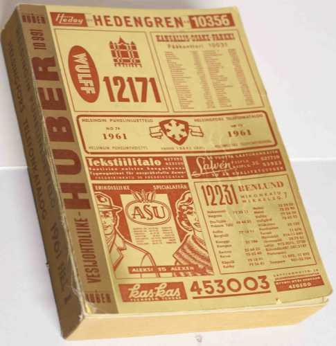 Helsingin puhelinluettelo v. 1961