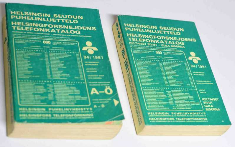Helsingin puhelinluettelo v. 1981