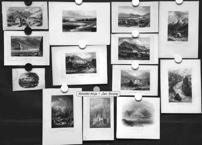 Sveitsi, Itävalta, Unkari ja Tsekki - 1800-luvun grafiikkaa (33 kuvaa)