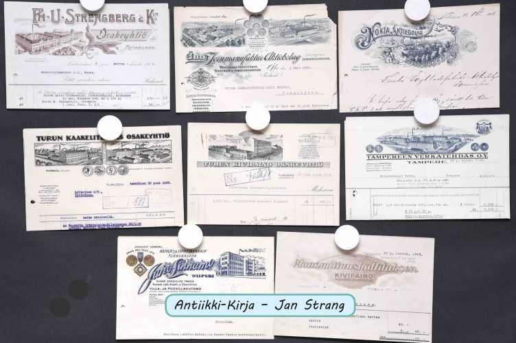Tehtaiden kuvia (kirjeepäitä) (6 kpl)
