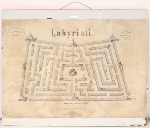 Board gama Labyrinti from 1860