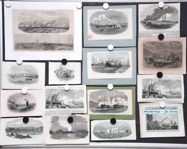 Marine prints from the 19th century