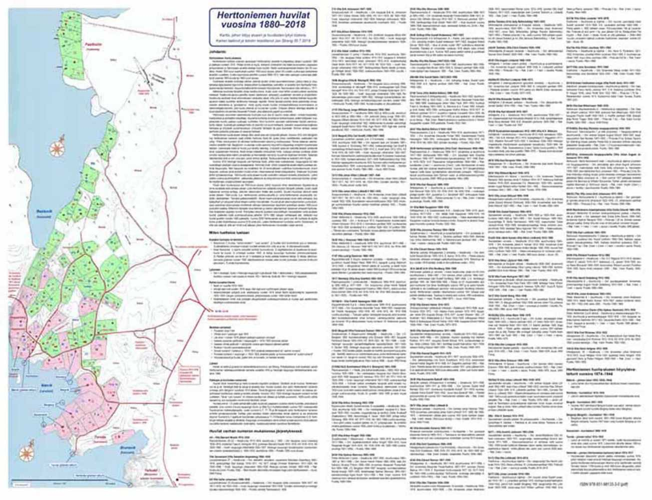 Strang, Jan. Herttoniemen huvila-alue 1880-2018 - kartta ja lyhyt historia