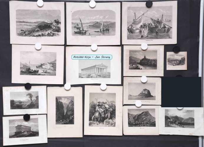 Kreikka - 1800-luvun grafiikkaa (15 kuvaa)