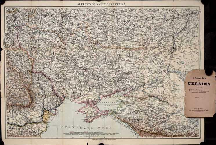 G. Freytags Karte der Ukraina