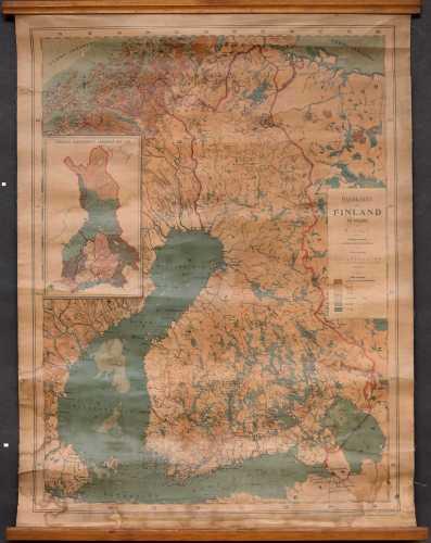 Hult, Ragnar. Handkarta öfver Finland