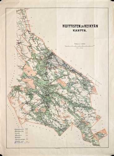 Huittisten ja Keikyän kartta
