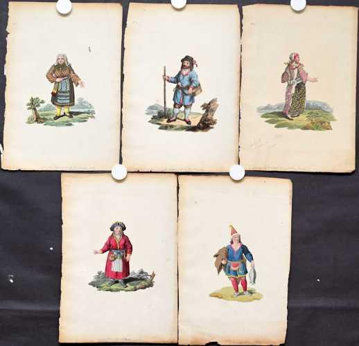 Pukukuvia vuodelta 1803