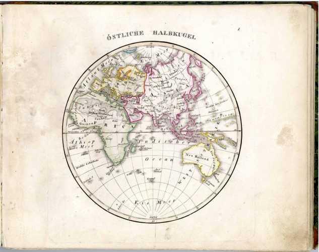 STIELER, A. Atlas öfver alla verldens delar
