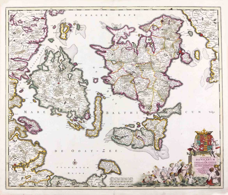 DE WITT FR. Insularum Danicarum. 1695-