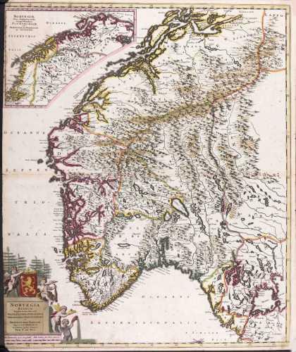 DE WITT, Fr. Norvegia regnum. 1695-