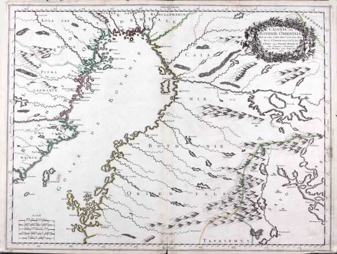 SANSON. N. Cajanie, ou Bothnie Orientaleю 1666