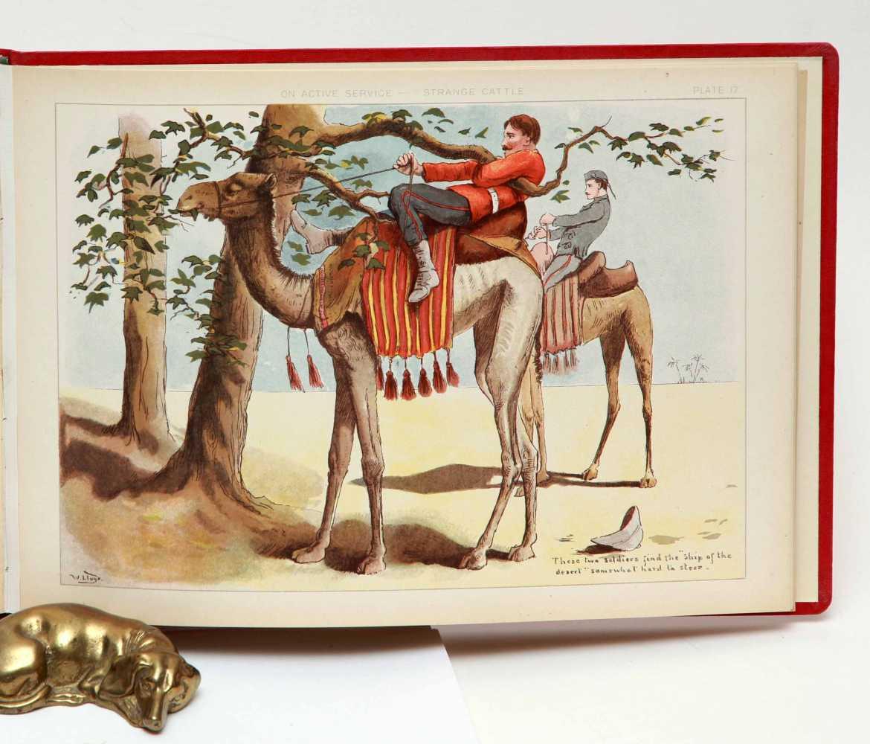 SIMKIN, R. Life in the Army.  LLOYD, W.W. On Active Service.  1890
