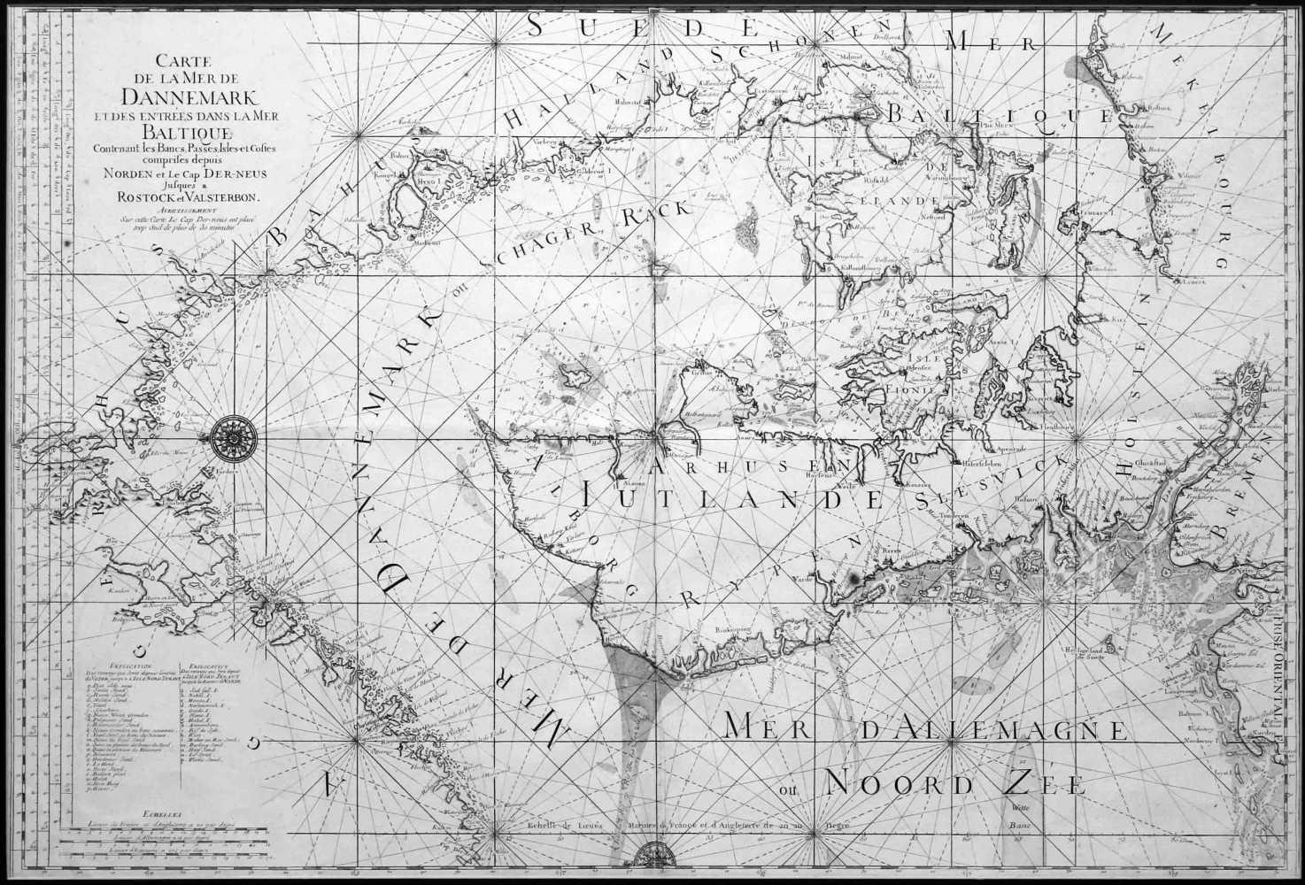 Carte de la mer de Dannemark