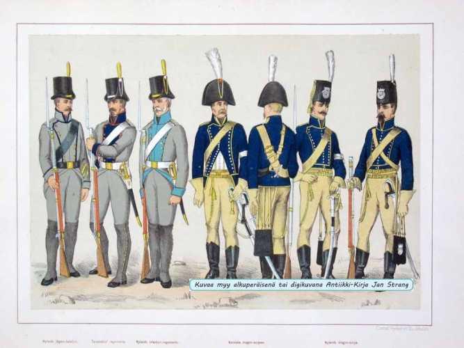 STAAFF, C. T. Nylands jägare-bataljon. Tavastehus' regemente. Nylands infanteri-regemente...