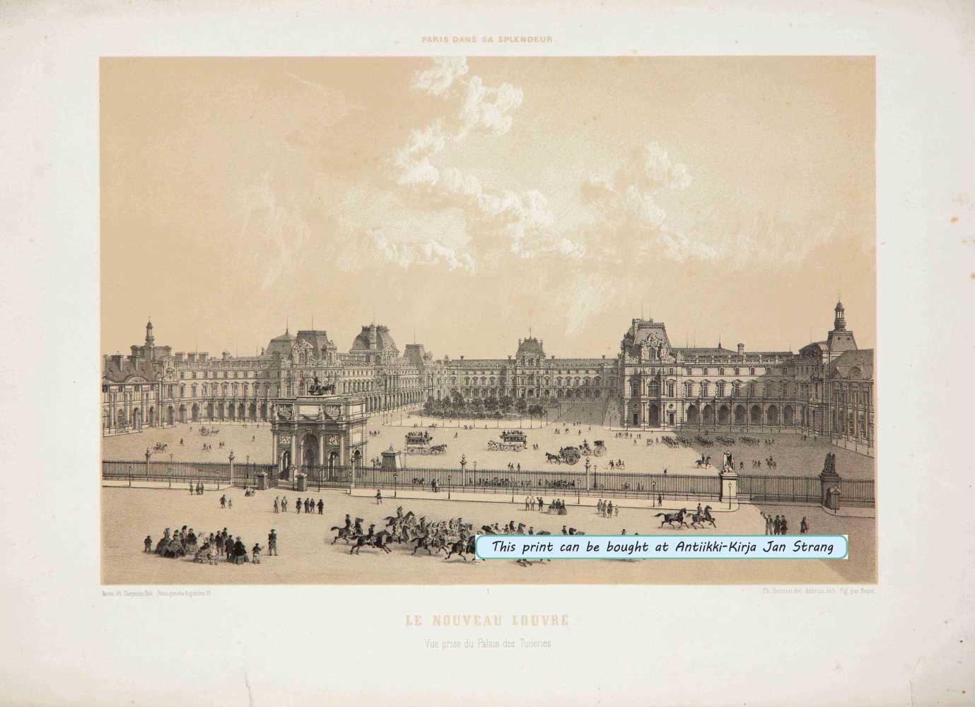 BENOIST, P. Le Nouveau Louvre. Vue prise de Palais des Tuileries