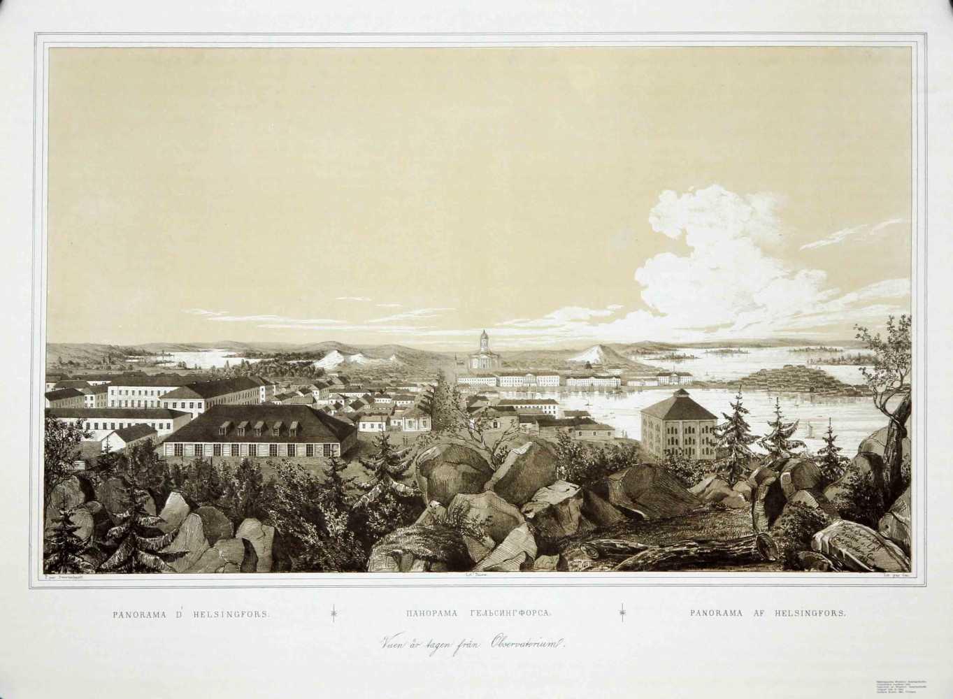 SWERTSCHKOFF, W. Panorama d'Helsingfors. Панорама Гельсингфорса. Panorama af Helsingfors