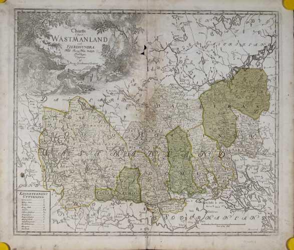 BIURMAN, G. Charta öfwer Wästmanland och Fierdhundra. 1740