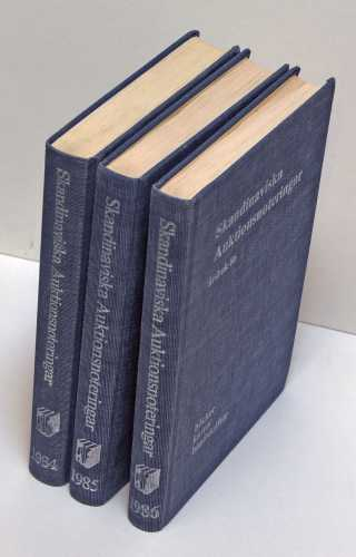 Skandinaviska auktionsnoteringar.  1984, 1985 & 1986