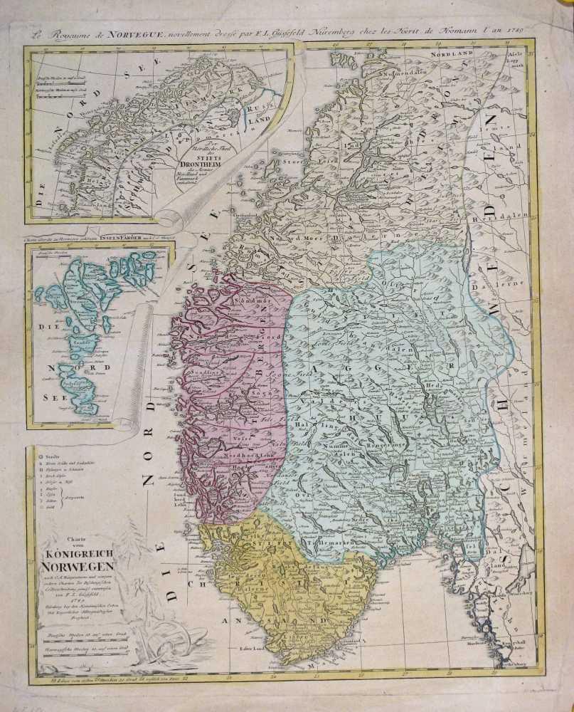 GÜSSELFELD, F. L.  Charte vom Königreich Norwegen. 1789