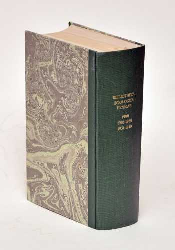 Biblioteca zoologica Fenniae. I-III