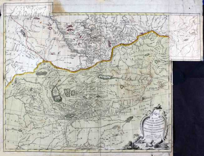 ISLENIEFF, Johan. Mappa fluvii Irtisz. 1777