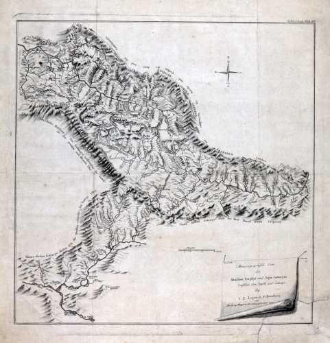 LOGAN, I.Z. Minerogrphische Carte des Altaischen Porphys und Jaspis Gebirges zwischen dem Irtisch und Catunja. 1797