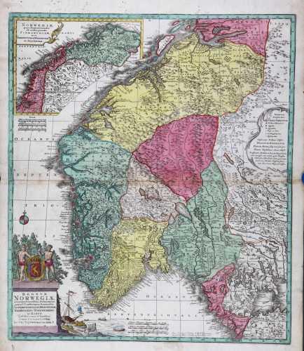 LOTTER, T. Regnum Norwegiæ. 1760