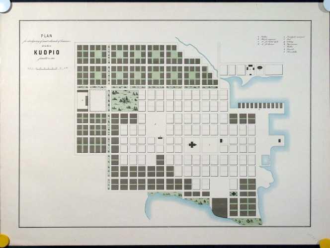 LINDHAGEN, A. Plan för utvidgning af samt ordnande af hamnen i staden Kuopio