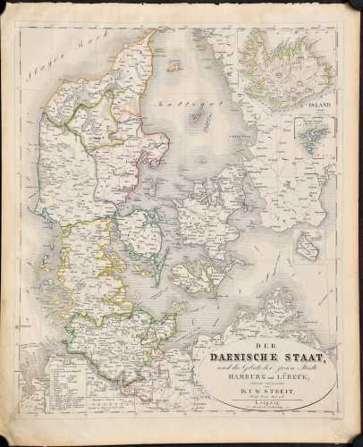 Streit, F.W. Der Daenische Staat, und die Gebiete der freien Städte Hamburg und Lübeck