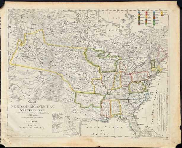 Streit, F.W. Charte von dem Nordamericanischen Staatenbunde