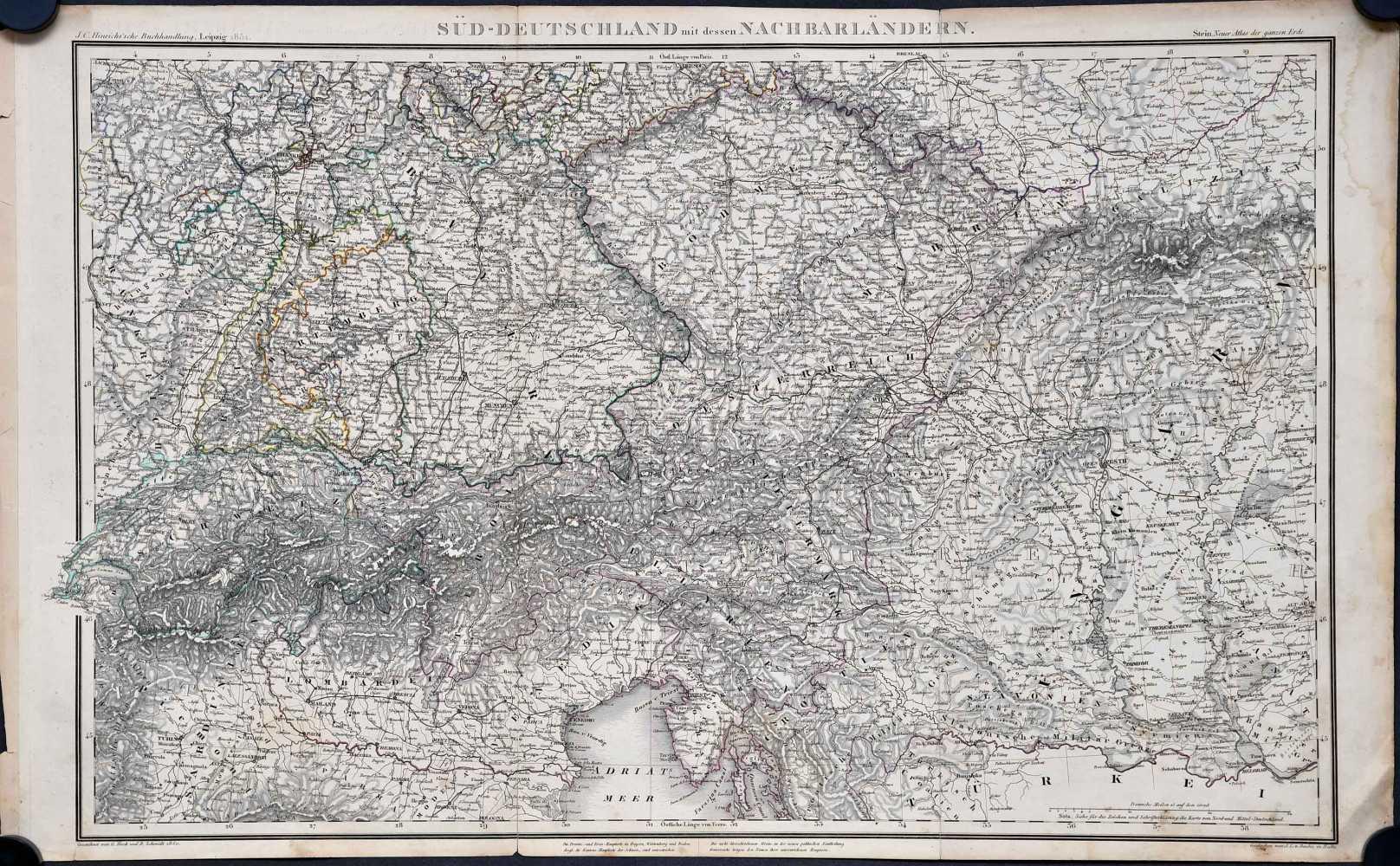 Heck, G. & R. Schmidt. Süd-Deutschland mit dessen Nachbarsländern