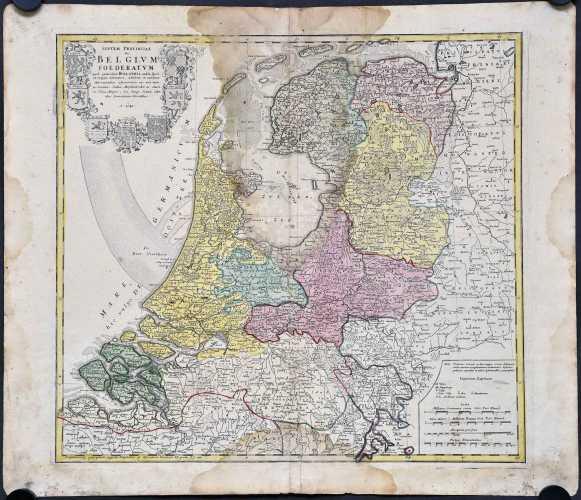 Homann her. Septem provinciae Belgivm foederatum