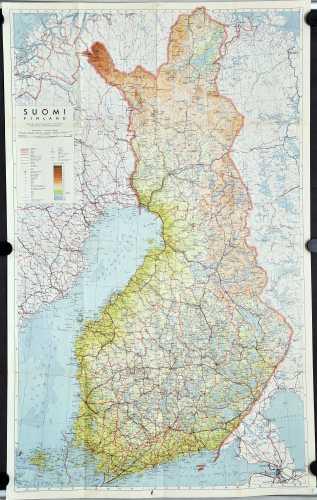 Suomi. Finland. 1:1.000.000.