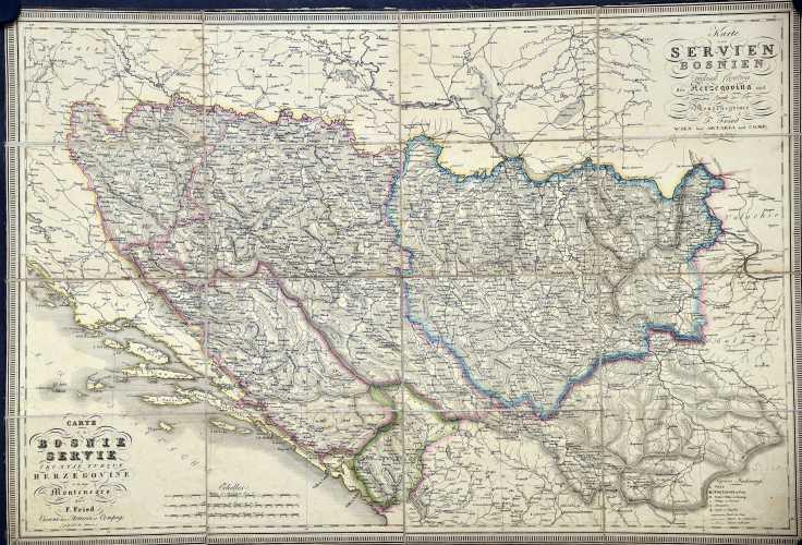 Karte von Servien, Bosnien