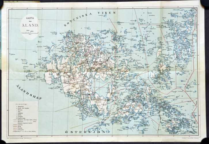 Karta öfver Åland