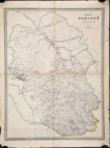 Карта Томской губернии