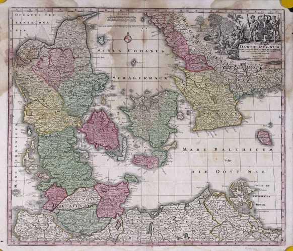 SEUTTER, M. Daniæ regnum cum ducatu Holsatiæ et Slesvici. 1740-