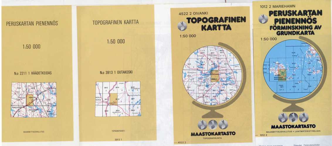Suomi 1:50 000. Peruskartan pienennös / Topografinen kartta 1:50 000