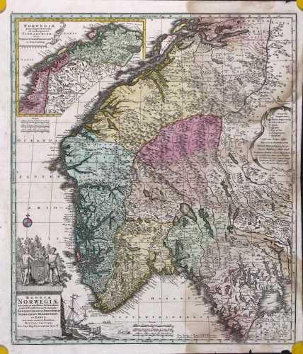 SEUTTER, M. Regnum Norwegiæ. 1740-