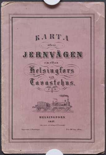 F. Liewendal. Helsingin ja Hämeenlinna rautatien kartta v. 1857 - 1:168 000