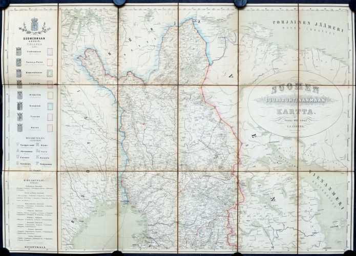 Inberg. I.J. Suomen suuriruhtinanmaan kartta v. 1875 - 1:1 000 000