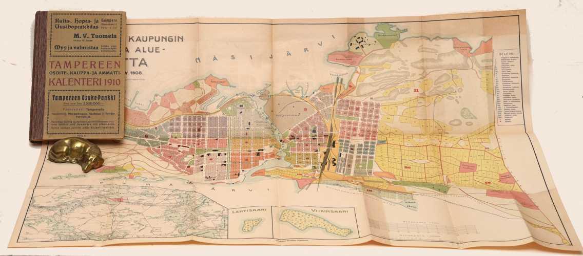 Tampereen osoite-, kauppa-, ja ammattika¬lenteri v. 1910