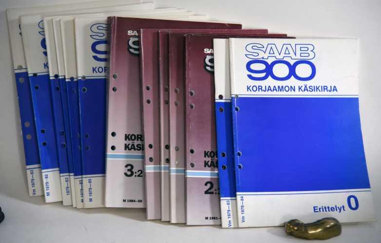 SAAB 900 korjaamokäsikirja vuosilta 1982-1988.