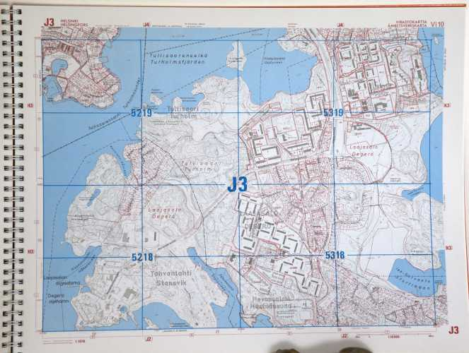 Helsingin Virastokartta 1/10.000 vuodelta 1976