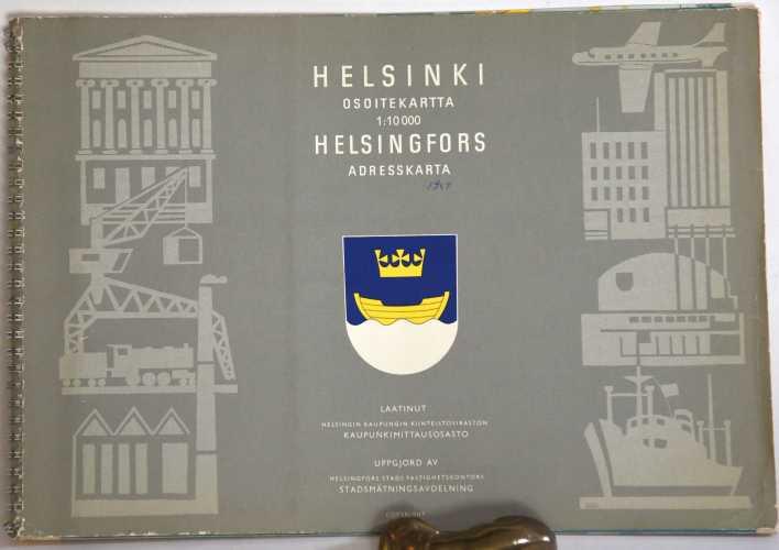 Helsinki. Osoitekartta 1:10 000 (Os10) vuodelta 1964